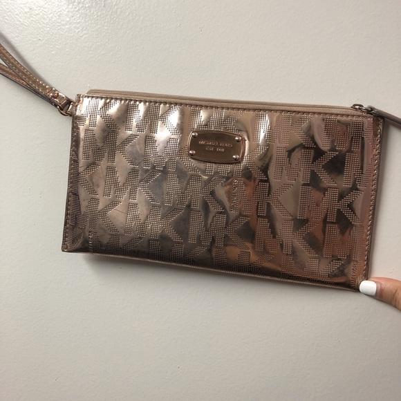 Michael Kors Handbags - MK wallet purse color rose gold